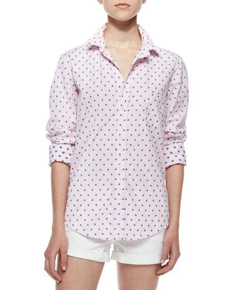 Ladybugs Blouse Size S frank eileen limited edition barry sleeve ladybug blouse light pink neiman