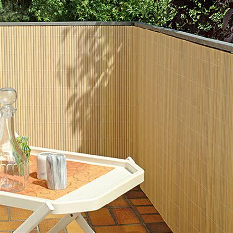 sichtschutz im garten 90 gardol comfort sichtschutz bambus optik 300 x 90 cm