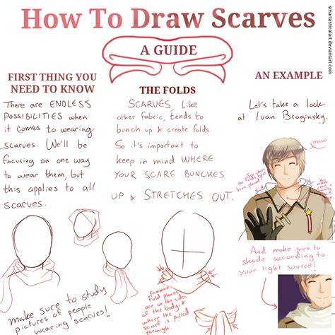 how to a guide how to draw scarves a guide tutorial by smartasticalart on deviantart