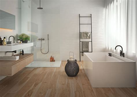 Interior Model Homes absolute white 3d structure white wall tiles marazzi