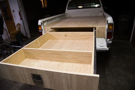 truck bed drawers diy guy builds awesome diy adventure truck for cing trips