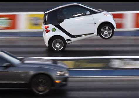 V8 Smart Car by Smart Fortwo V8 Drag Car Looks Nuts Performancedrive
