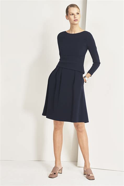 Dress Navy camelot dress navy the fold thefoldlondon
