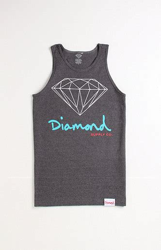 diamond supply co mill tee at pacsun com from pacsun tops diamond supply co script logo tank at pacsun com