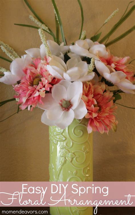 easy diy spring flower arrangement