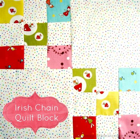 Chain Quilt Tutorial by Single Chain Quilt Block Tutorial