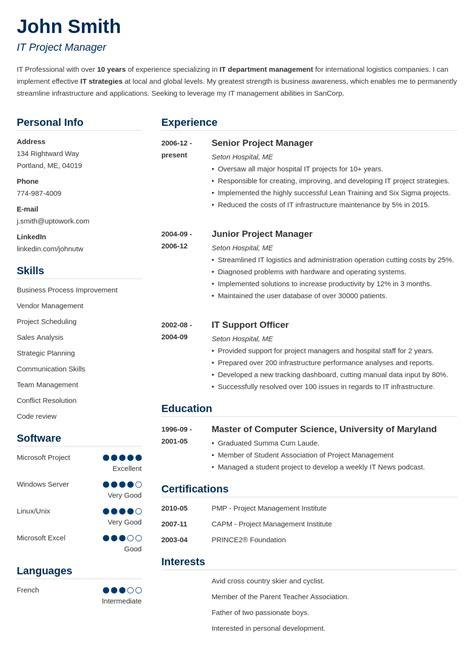 cv templates   professional curriculum vitae