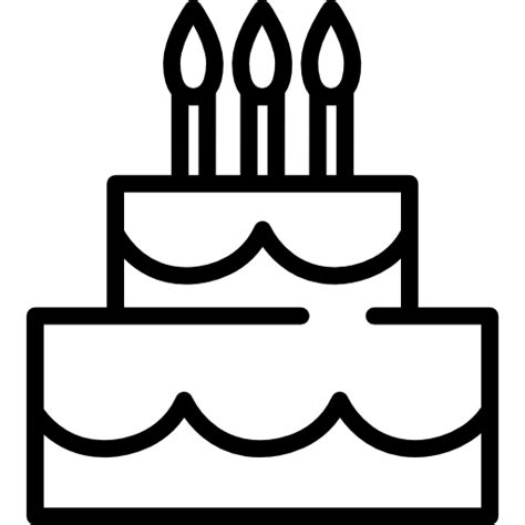wedding cake birthday candles food icon