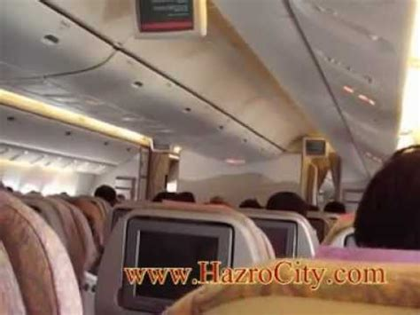 Emirates Airlines Inside Cabin View by Karachi To Dubai Emirates Airlines Boeing 777