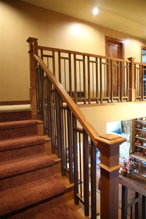 metal banister ideas stair systems craftsman style stair case with a mix of