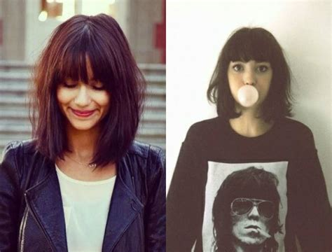 hairstyles bob cut with bangs long bob hairstyles with fringe 2018 hairstyles