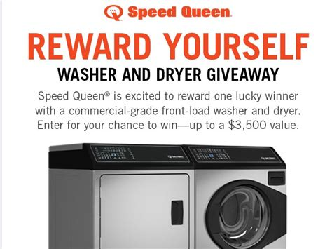 Free Washer And Dryer Giveaway - speed queen washer dryer september giveaway sweepstakes