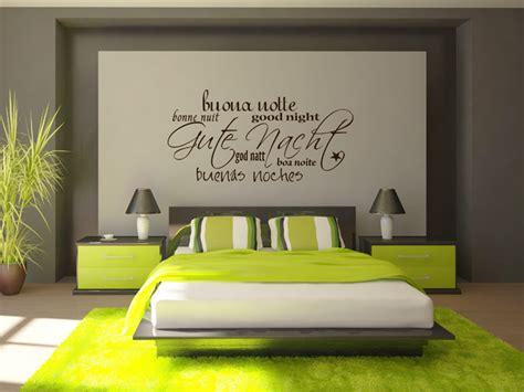 gute farben zu malen schlafzimmer wandtattoos als schriften buchstaben und w 246 rter