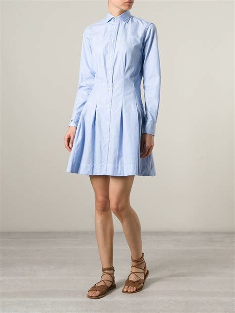 Dress Polos 2 polo ralph flared shirt dress in blue lyst