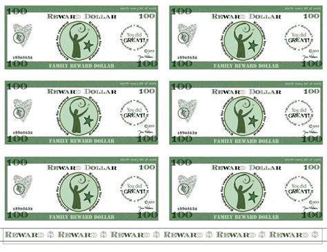 this is a sheet of reward dollars from the janovation rule