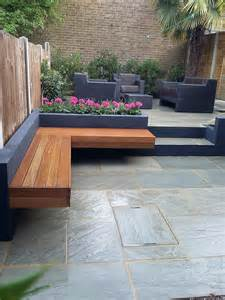Patio Beds by Modern Garden Design London Natural Sandstone Paving Patio