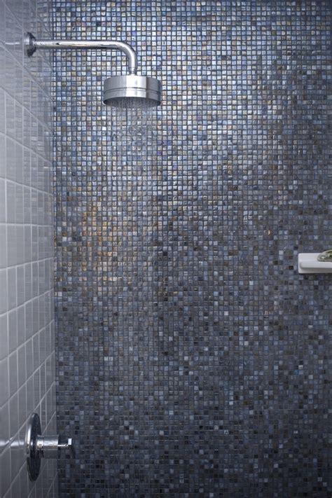 glass mosaic tile shower wall bathroom inspiring image of bathroom design and decoration