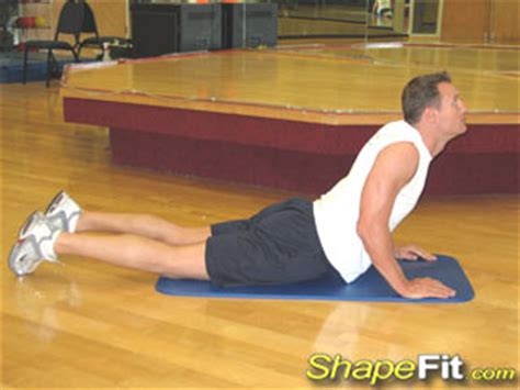 abdominal stretch exercise guide with photos