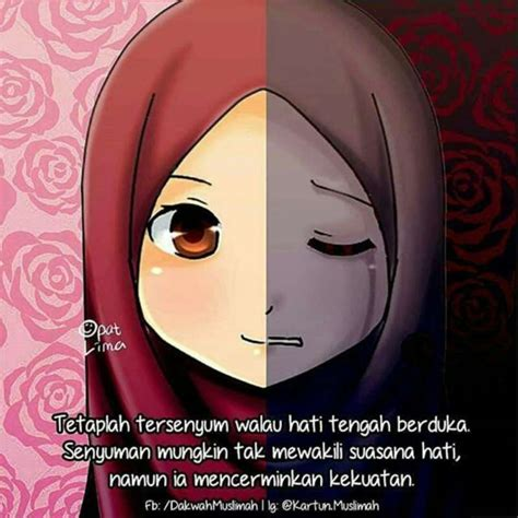 gambar kartun muslimah tersenyum koleksi gambar hd