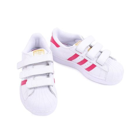superstar foundation pink velcro trainers pink adidas shoes baby