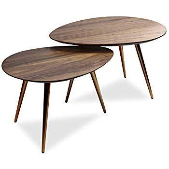 amazon coffee table sets amazon com edloe finch mid century modern coffee table