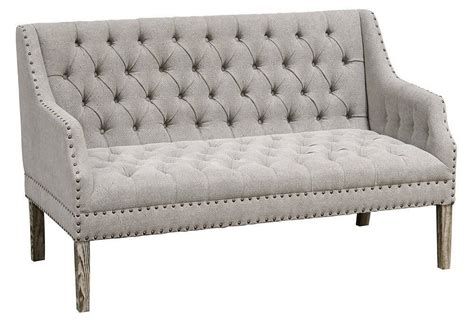 french country settee bench chic shabby french country grey oak linen settee bench 58