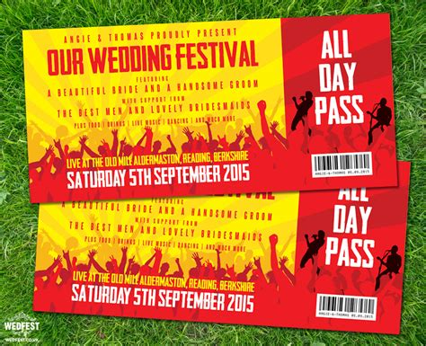 wedding invitations like concert tickets concert ticket wedding invitations wedfest