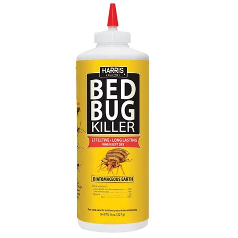 Bed Bug Killer shop harris diatomaceous earth 8 oz organic bed bug killer at lowes