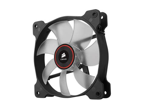 high static pressure fans 120mm corsair air series sp120 led red high static pressure