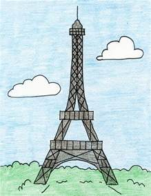 St Grade Holiday Crafts - how to draw the eiffel tower art projects for kids