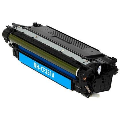 Toner Hp Laserjet 654a Cyan Cf331a Original hewlett packard 654a cf331a cyan toner compatible