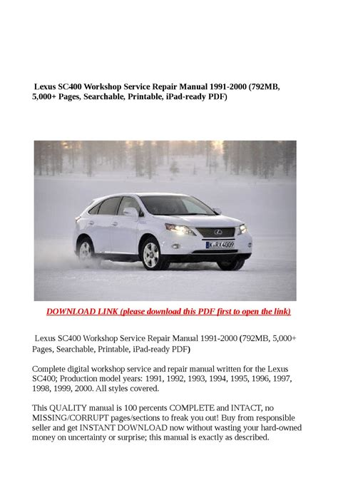 repair anti lock braking 2008 lexus ls user handbook lexus sc400 workshop service repair manual 1991 2000 792mb 5 000 pages searchable printable