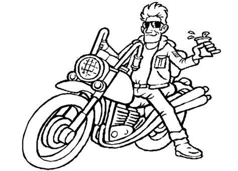 cartoon motorcycle coloring pages motorcycle coloring pages coloring kids