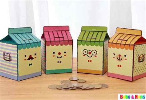 How To Make A Paper Bank - coin banks diy on coins dramatic play and chips