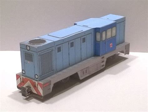 How To Make Paper Trains - lxd2 locomotive for children free paper model