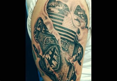 ranger tattoo army airborne ranger left shoulder veteran ink