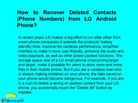 recover contacts from android phone how to recover deleted contacts phone numbers from lg android phone