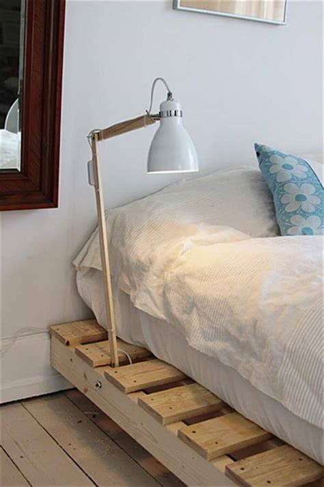 pallet bed with lights diy pallet bed with light l