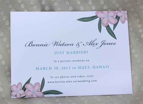 Wedding Announcements Hawaii by Turquoise Coral Plumeria Boarding Pass Wedding