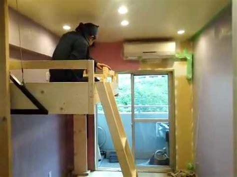 自分だけの聖域 昇降式ロフトベッド マンション納戸でも設置できます youtube