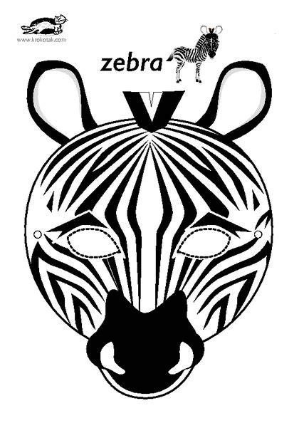 zebra mask template printable free krokotak print printables for kids dierentuindieren