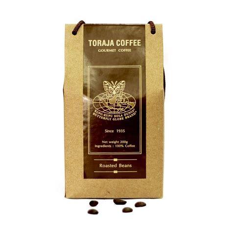 Coffee Dunia jual kupu kupu bola dunia toraja coffee beans tas 200 gr harga kualitas terjamin