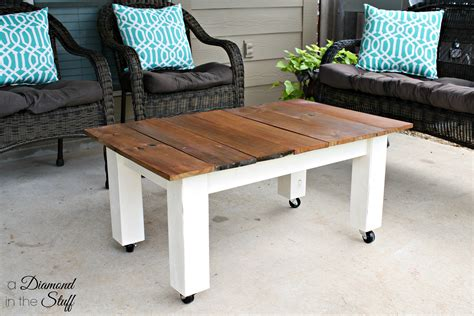 Diy Outdoor Coffee Table Diy Outdoor Coffee Table