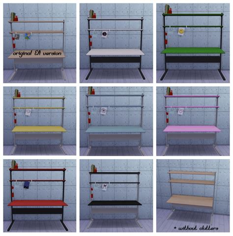 sims 4 cc desk shelf fredrik workstation desk ts2 to ts4 conversion at dri4na