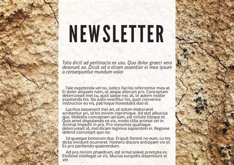 bulletin layout sles 28 best free magazine newsletter templates images on