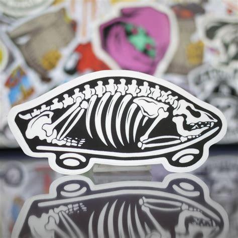 vans bone logo sticker nghe thuat