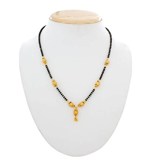 small black jewellery designs buy designer gold plated mangalsutra