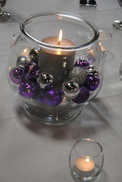Purple And Silver Centerpieces Purple And Silver Wedding Centerpiece Ideas