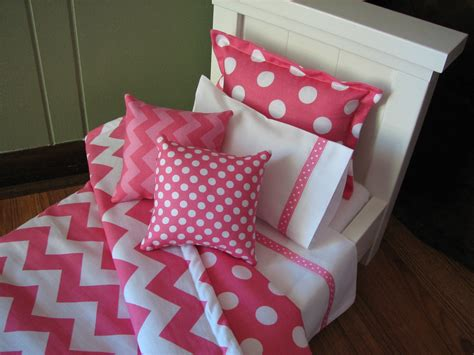 girls chevron bedding chevron bedding set for american girl doll or similar 18