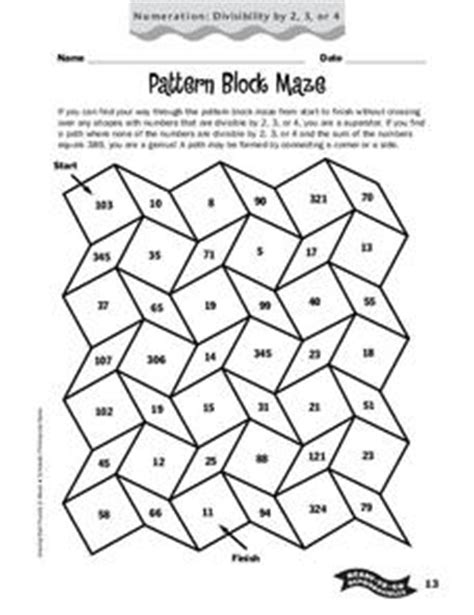 pattern block activities 4th grade pattern block maze worksheet for 4th 6th grade lesson